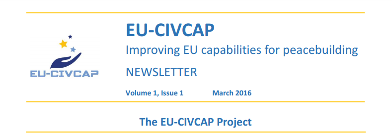 First EU-CIVCAP Newsletter published